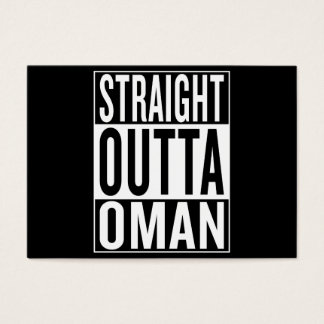 straight outta Oman Business Card