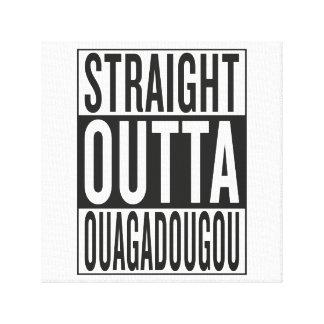 straight outta Ouagadougou Canvas Print