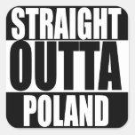Straight Outta Poland Sticker