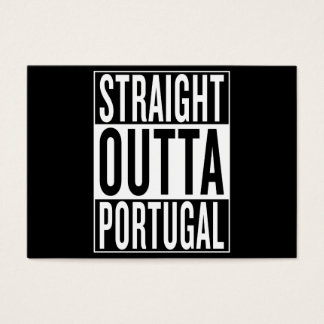 straight outta Portugal Business Card