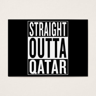 straight outta Qatar Business Card