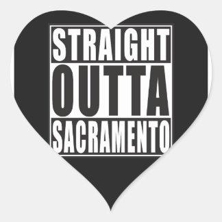Straight Outta Sacramento California Heart Sticker