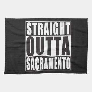Straight Outta Sacramento California Kitchen Towel