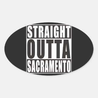 Straight Outta Sacramento California Oval Sticker