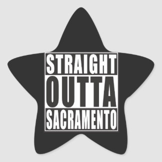 Straight Outta Sacramento California Star Sticker