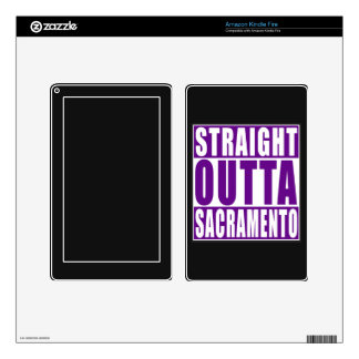 Straight Outta Sacramento Purple Decal For Kindle Fire