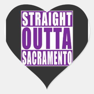 Straight Outta Sacramento Purple Heart Sticker