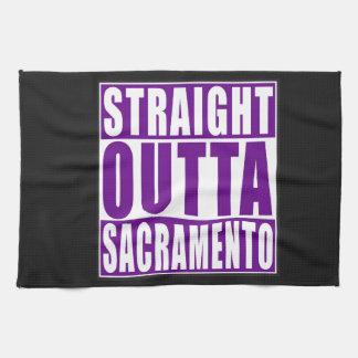 Straight Outta Sacramento Purple Kitchen Towel