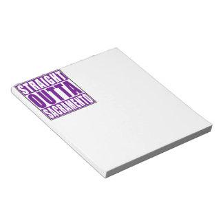 Straight Outta Sacramento Purple Notepad