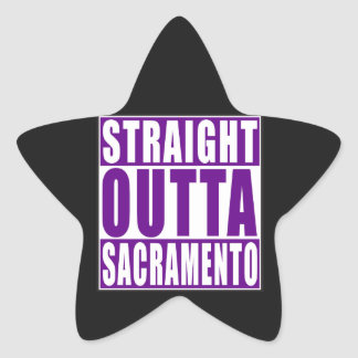 Straight Outta Sacramento Purple Star Sticker