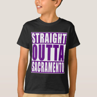 Straight Outta Sacramento Purple T-Shirt