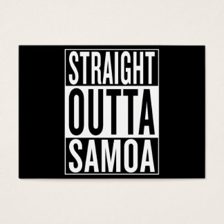 straight outta Samoa Business Card