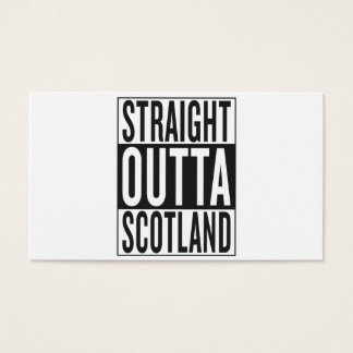 straight outta Scotland Business Card