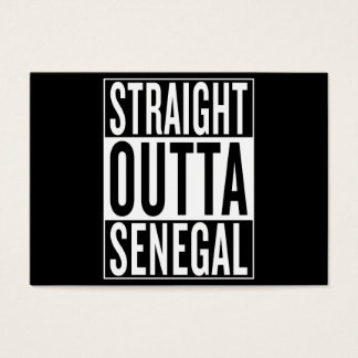 straight outta Senegal Business Card