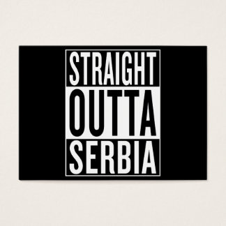 straight outta Serbia Business Card