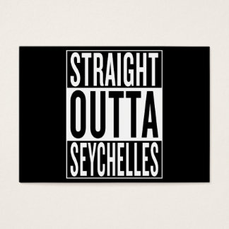 straight outta Seychelles Business Card