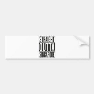 straight outta Singapore Bumper Sticker