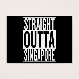 straight outta Singapore Business Card