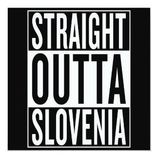 straight outta Slovenia Card