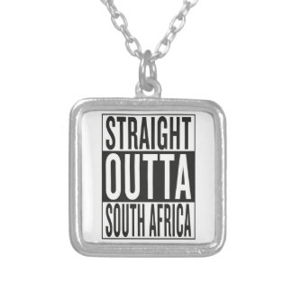 straight outta South Africa Silver Plated Necklace