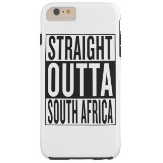 straight outta South Africa Tough iPhone 6 Plus Case