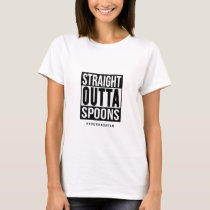 Straight Outta Spoons Custom Hashtag T-Shirt
