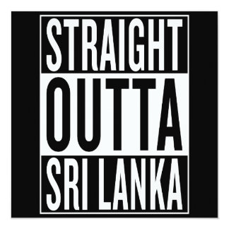 straight outta Sri Lanka Card