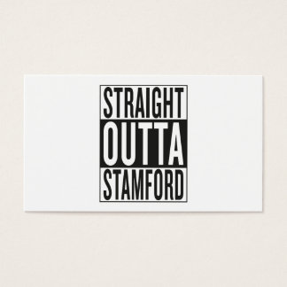 straight outta Stamford Business Card