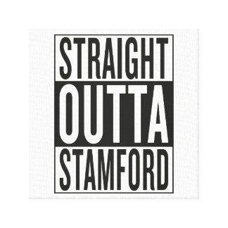 straight outta Stamford Canvas Print