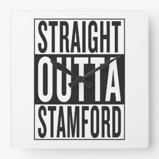 straight outta Stamford Square Wall Clock