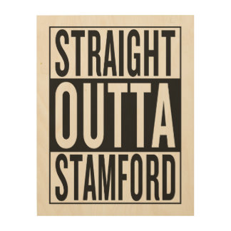 straight outta Stamford Wood Wall Decor
