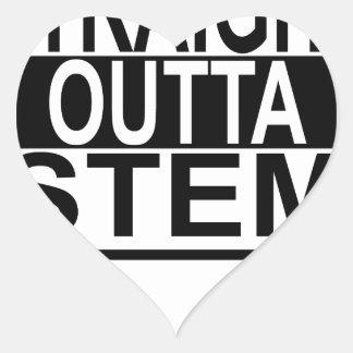 Straight Outta STEM t-shirt ;.png Heart Sticker