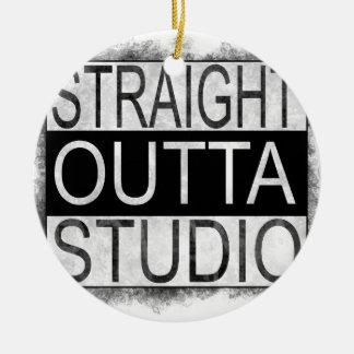 Straight outta STUDIO Ceramic Ornament