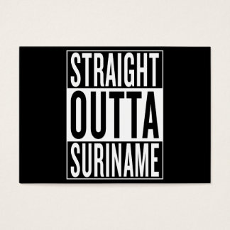 straight outta Suriname Business Card