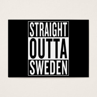straight outta Sweden Business Card