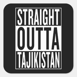 straight outta Tajikistan Square Sticker