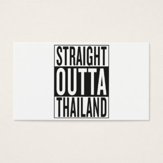 straight outta Thailand Business Card