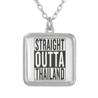 straight outta Thailand Silver Plated Necklace