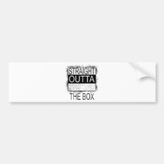 Straight outta the box bumper sticker