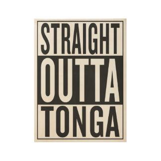 straight outta Tonga Wood Poster