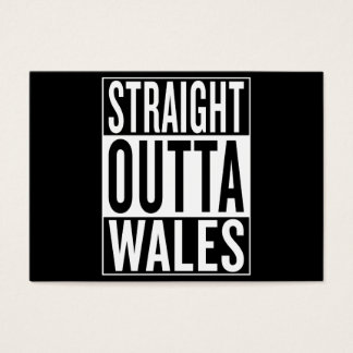 straight outta Wales Business Card