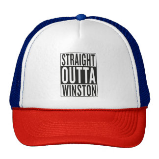 straight outta Winston Trucker Hat
