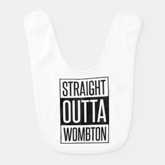 Straight Outta Wombton Funny Baby Bib