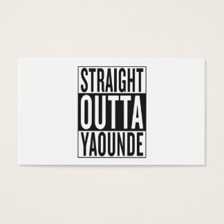 straight outta Yaounde Business Card
