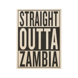 straight outta Zambia Wood Poster