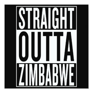 straight outta Zimbabwe Card