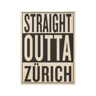 straight outta Zürich Wood Poster