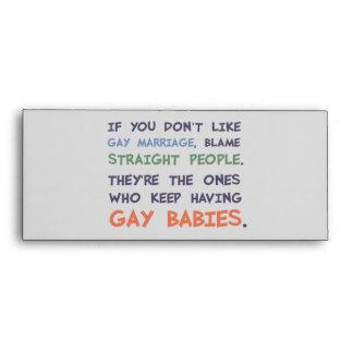 Straight People Are Having Gay Babies Envelope