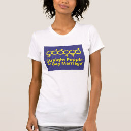 Straight People for Gay Marriage Ladies' Short Slv T-Shirt