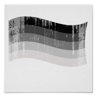 Straight Pride Banner distressed png Posters
